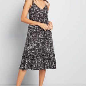 "NWT ModCloth ""It's a Go"" Tie Shoulder Dress"